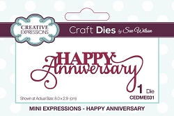 Sue Wilson Designs - Die - Mini Expressions - Happy Anniversary