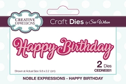Sue Wilson Designs - Die - Noble Expressions - Happy Birthday