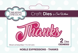 Sue Wilson Designs - Die - Noble Expressions - Thanks
