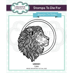 Sue Wilson Designs - Cling Mounted Stamp - Lion