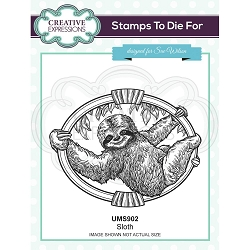 Sue Wilson Designs - Cling Mounted Stamp - Sloth