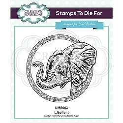 Sue Wilson Designs - Cling Mounted Stamp - Elephant