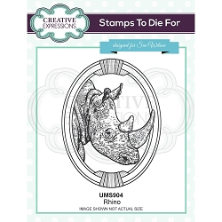 Sue Wilson Designs - Cling Mounted Stamp - Rhino
