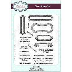 Sue Wilson Designs - Clear Stamp Set - Wild About You