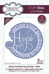 Sue Wilson Designs - Die - Circle Sayings Collection - Hope