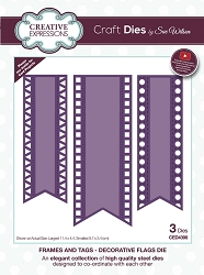 Sue Wilson Designs - Die - Frames & Tags - Decorative Flags