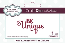 Sue Wilson Designs - Die - Mini Expressions - Be Unique