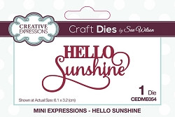 Sue Wilson Designs - Die - Mini Expressions - Hello Sunshine