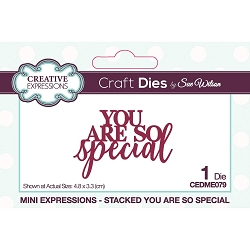 Sue Wilson Designs - Die - Mini Expressions - Stacked You Are So Special