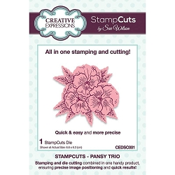 Sue Wilson Designs - Die - Stampcuts Pansy Trio