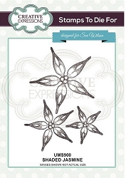 Sue Wilson Designs - Cling Mounted Stamp - Shaded Jasmine