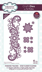 Sue Wilson Designs - Die - Finishing Touches Collection - Star Flower Flourish