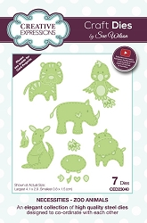Sue Wilson Designs - Die - Necessities Collection - Zoo Animals