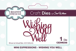 Sue Wilson Designs - Die - Mini Expressions - Wishing You Well