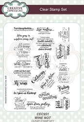 Creative Expressions - Clear Stamp - Wine Not