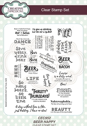 Creative Expressions - Clear Stamp - Beer Happy