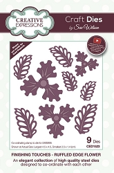 Sue Wilson Designs - Die - Finishing Touches Collection - Ruffled Edge Flower