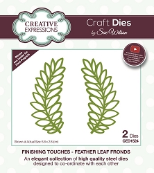 Sue Wilson Designs - Die - Finishing Touches Collection - Feather Leaf Frond