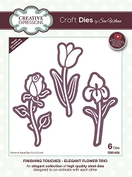 Sue Wilson Designs - Die - Finishing Touches Collection - Elegant Flower Trio