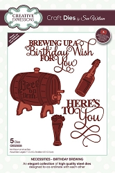 Sue Wilson Designs - Die - Necessities Collection - Birthday Brewing