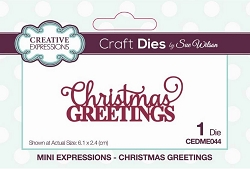 Sue Wilson Designs - Die - Mini Expressions - Christmas Greetings
