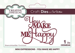 Sue Wilson Designs - Die - Mini Expressions - You Make Me Happy