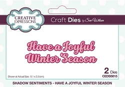 Sue Wilson Designs - Die - Shadow Sentiments - Have A Joyful Winter