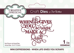 Sue Wilson Designs - Die - Mini Expressions - When Life Gives You Scraps