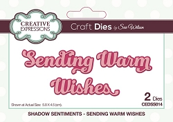 Sue Wilson Designs - Die - Shadow Sentiments - Sending Warm Wishes