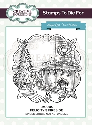 Sue Wilson Designs - Cling Mounted Stamp - Felicitys's Fireside Pre Cut Stamp