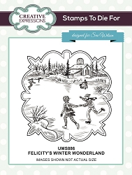Sue Wilson Designs - Cling Mounted Stamp - Felicitys's Winter Wonderland Pre Cut Stamp