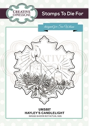 Sue Wilson Designs - Cling Mounted Stamp - Hayley's Candlelight Pre Cut Stamp