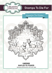 Sue Wilson Designs - Cling Mounted Stamp - Hayley's Foxes Pre Cut Stamp