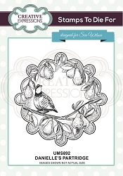 Sue Wilson Designs - Cling Mounted Stamp - Danielle's Partridge Pre Cut Stamp