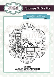 Sue Wilson Designs - Cling Mounted Stamp - Marilynne's Lamplight Pre Cut Stamp