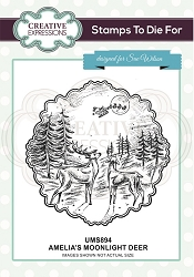 Sue Wilson Designs - Cling Mounted Stamp - Amelia's Moonlight Deer Pre Cut Stamp