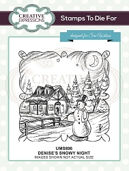 Sue Wilson Designs - Cling Mounted Stamp - Denise's Snowy Night Pre Cut Stamp