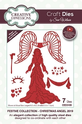 Sue Wilson Designs - Die - Festive Collection Christmas Angel 2019 Craft Die