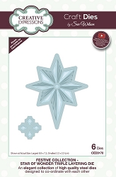 Sue Wilson Designs - Die - Festive Collection Star Of Wonder Triple Layering die