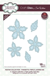 Sue Wilson Designs - Die - Festive Collection Poinsettia Triple Layered die