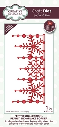 Sue Wilson Designs - Die - Festive Collection Pearly Snowflake Border Craft Die