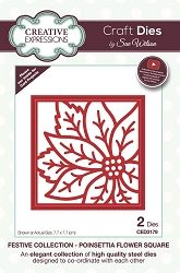 Sue Wilson Designs - Die - Festive Collection Poinsettia Flower Square Craft Die