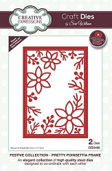 Sue Wilson Designs - Die - Festive Collection Pretty Poinsettia Frame Craft Die