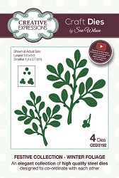Sue Wilson Designs - Die - Festive Collection Winter Foliage Craft Die