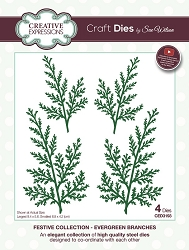 Sue Wilson Designs - Die - Festive Collection Evergreen Branches Craft Die