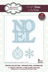 Sue Wilson Designs - Die - Festive Collection Stacked Noel Layering die
