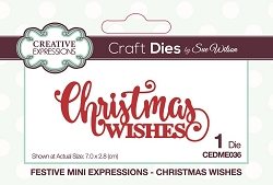 Sue Wilson Designs - Die - Festive Mini Expressions Christmas Wishes Craft Die