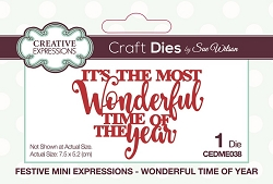 Sue Wilson Designs - Die - Festive Mini Expressions Wonderful Time Of Year Craft Die