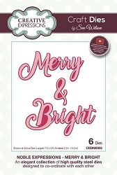 Sue Wilson Designs - Die - Noble Expressions Merry & Bright Craft Die