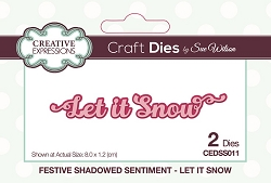 Sue Wilson Designs - Die - Festive Shadowed Sentiment Let It Snow Craft Die